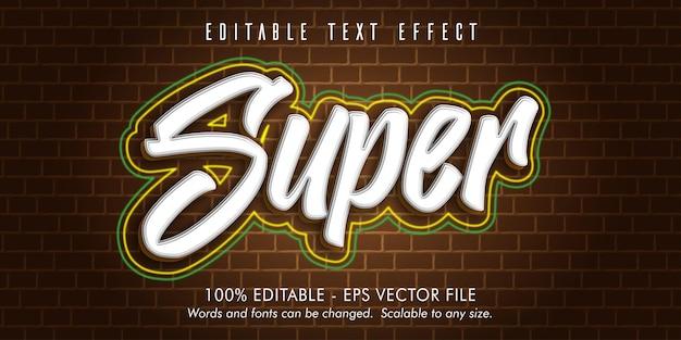슈퍼 텍스트, 그래피티 스타일 편집 가능한 텍스트 효과