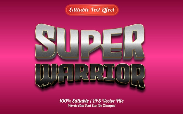 Текстовый эффект супер воина