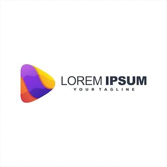 Superb gradient play logo