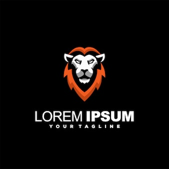 Superb lion head logo