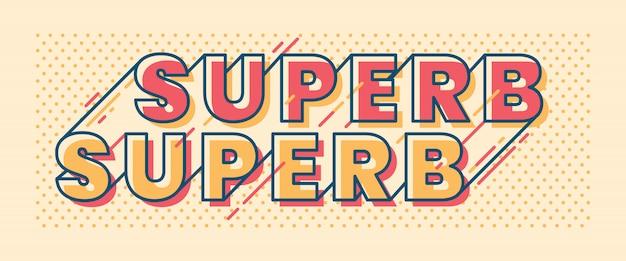 Superb typographic retro lettering design