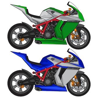 Superbike sport motorcycle