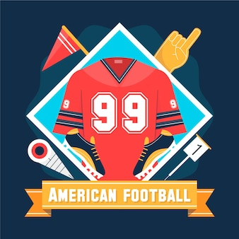 Superbowl design piatto illustrazione