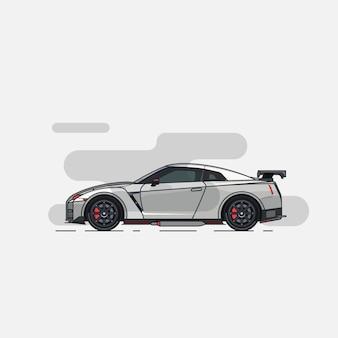 Supercar flat design