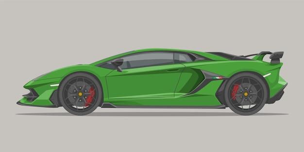 スーパーカーの側面図