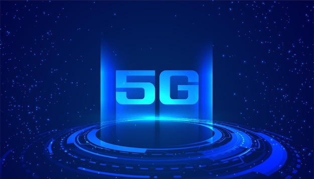 Superfast internet speed 5g technology concept