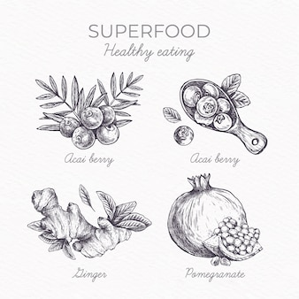 Superfood collection concept