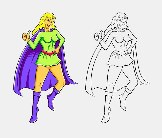Красочные иллюстрации supergirl