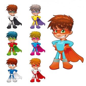 Raccolta ragazzo superhero