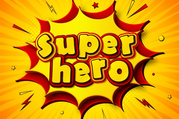 Superhero. cartoonish comics background