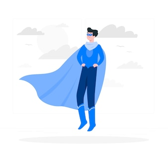 Superhero concept illustration