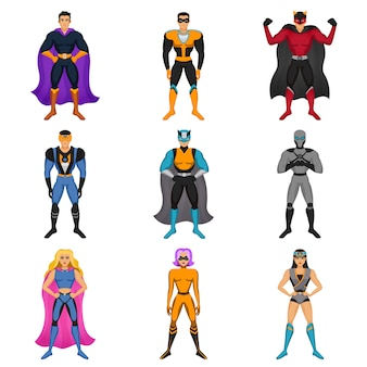 Superhero costumes set