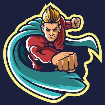 Иллюстрация логотипа супергероя киберспорта
