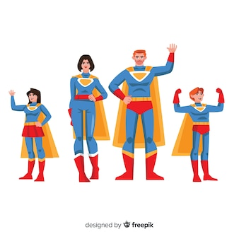 Superhero family concept