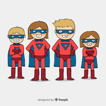 Superhero family design