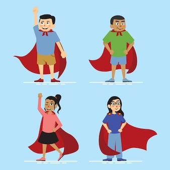Superhero kid illustration