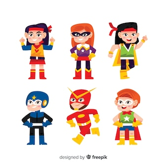 Superhero kids set