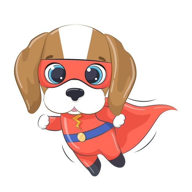 スーパーヒーローの小さな犬の漫画