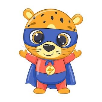 スーパーヒーローの小さなヒョウの漫画
