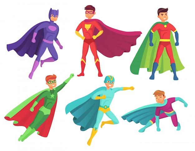 Superhero man characters