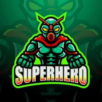 Иллюстрация киберспорта талисмана супергероя