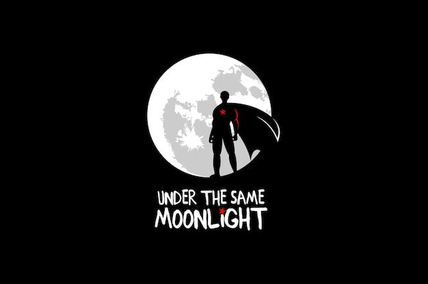 Superhero under the same moonlight