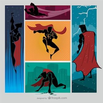 Superhero силуэты