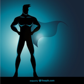 Superhero стоя представляют