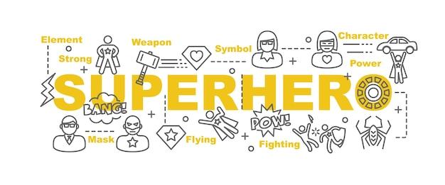 Superhero vector banner