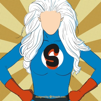 Superhero woman Free Vector