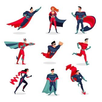 Superheroes characters set