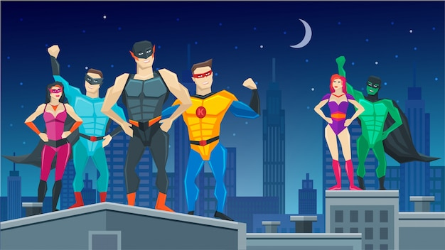 Состав команды супергероев