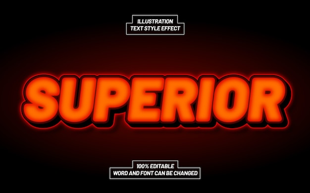 Superior 3d bold text style effect