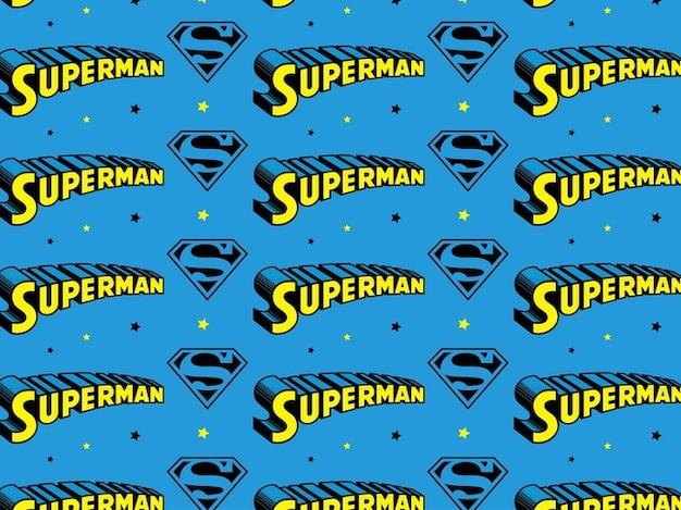Superman text seamless pattern