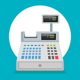 Supermarket cash register icon