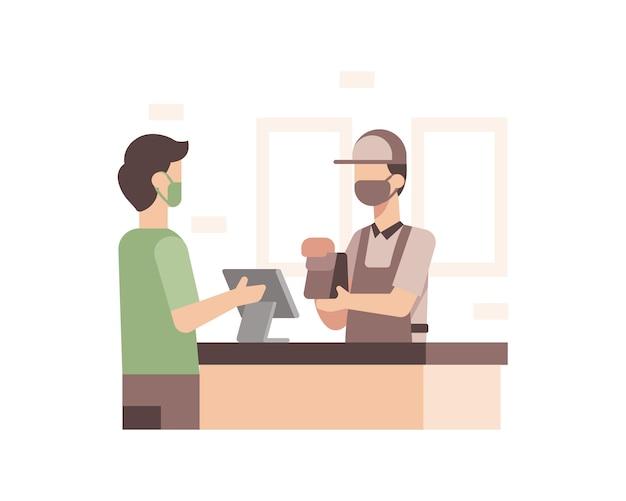 スーパーマーケットのレジ係の図
