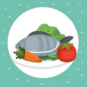 Supermarket groceries healthy food