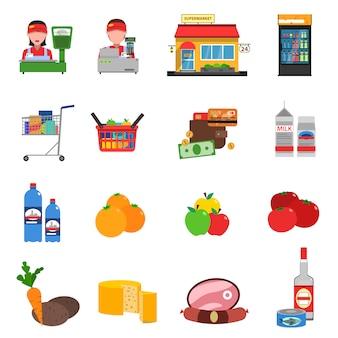 Набор иконок супермаркет