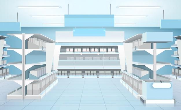 Supermarket interior design composition