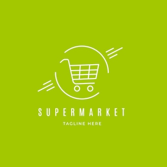 Концепция логотипа супермаркета