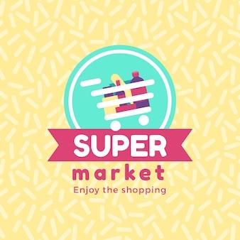 Supermarket logo concept