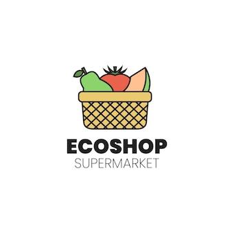 Супермаркет дизайн логотипа