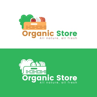 Тема шаблона логотипа супермаркета
