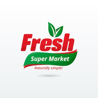 Supermarket logo template