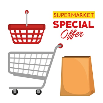 Supermarket special offer icons