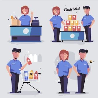Коллекция работников супермаркетов