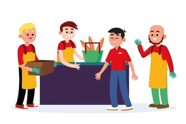 슈퍼마켓 노동자 수집
