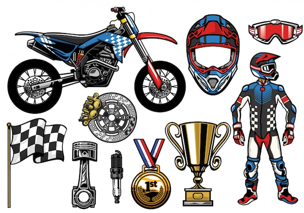 Supermoto concept set elements