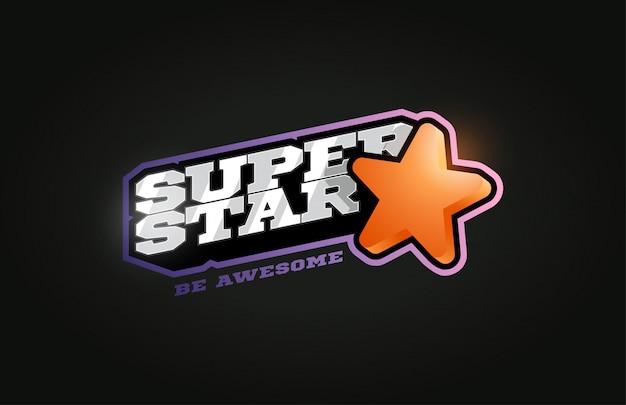 Superstar modern professional sport logo in retro style