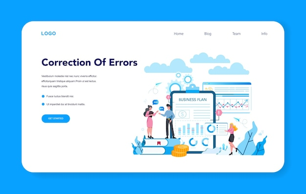 Supervisor manager web banner or landing page. specialist guiding employees with their task, coordinating job, organizing professional trainnig. manager control job process.